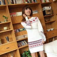 Apparel Sweaters OEM Service Pullover White Dresses For Women Spring Woman Sweater