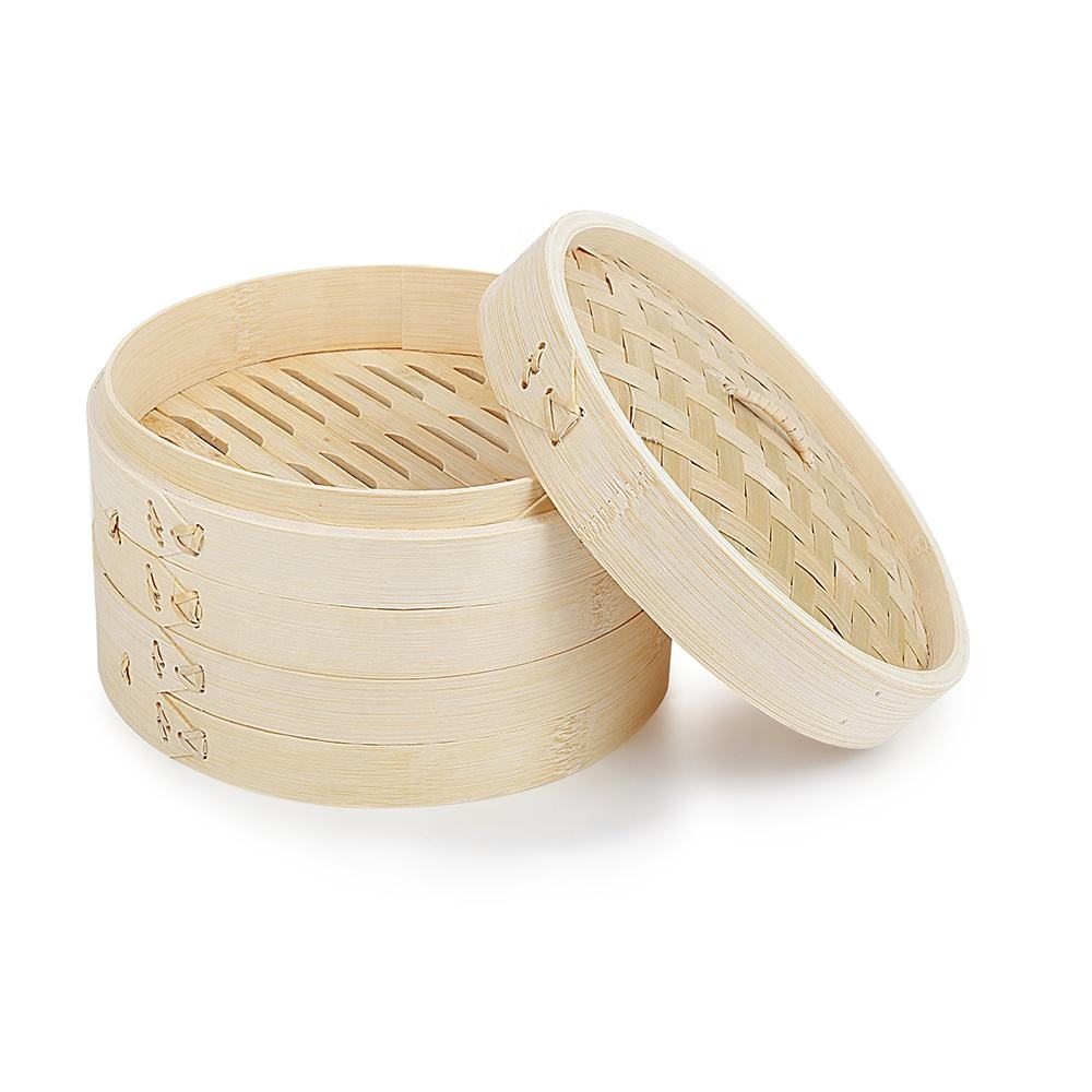 Best quality small bamboo dim sum food steamers for cook