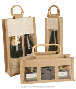 Six Bottle Jute Wine Bags / Jute Wine Bags