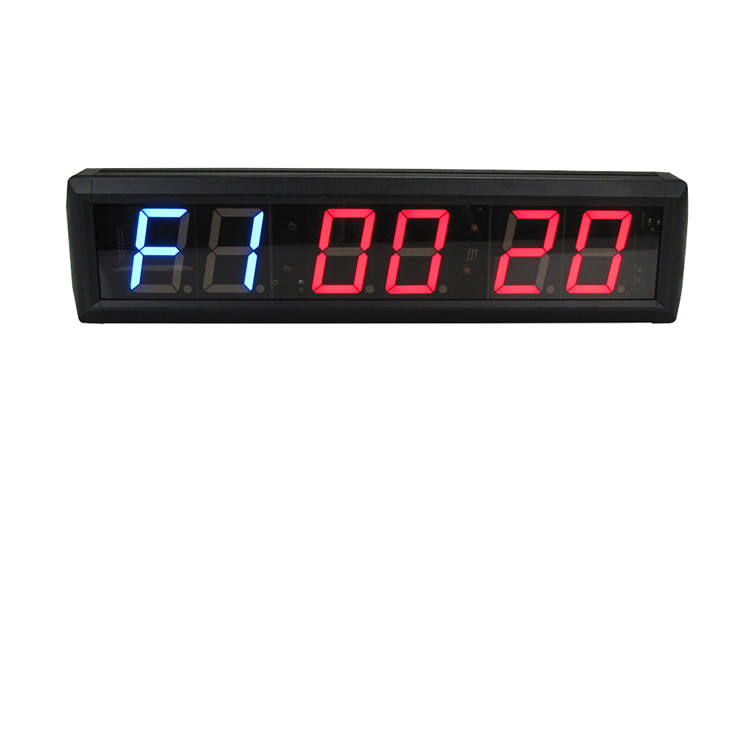 Prompt Delivery 2.3 Inch LED 6 Digit No Limits Remote Crossfit Timer Clock For Gym