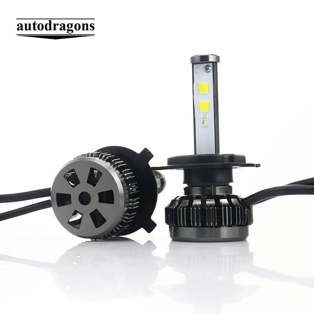 Super Bright DRL COB App Control LED Head lights Bulb H4 H7 9005 9006 H8 Fog Light 12V 80W 8000LUMEN RGB Car LED Headlight Bulbs