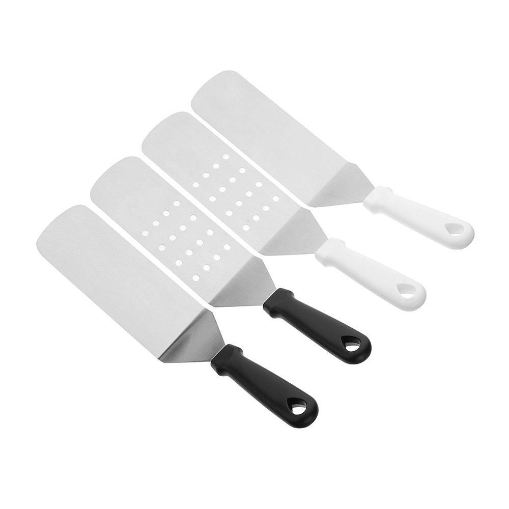 Instagram Hot sale 37 CM Big Griddle 2 Pieces Set Tools Plastic Handle Curved Turner Slotted Flat Spatula