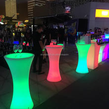 remote control lighted up 16 colors portable led cocktail bar table alfresco high outdoor bistro table