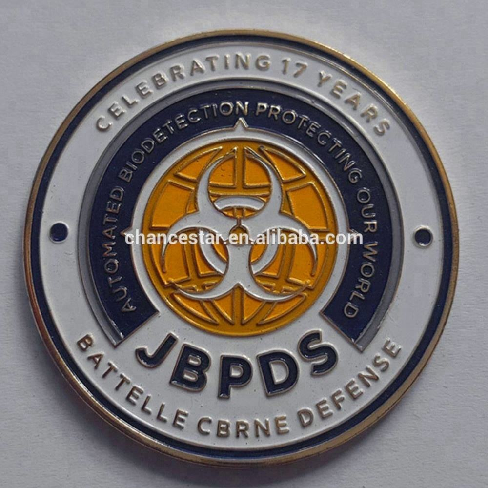 custom stamping double sides coin plating metal tokens