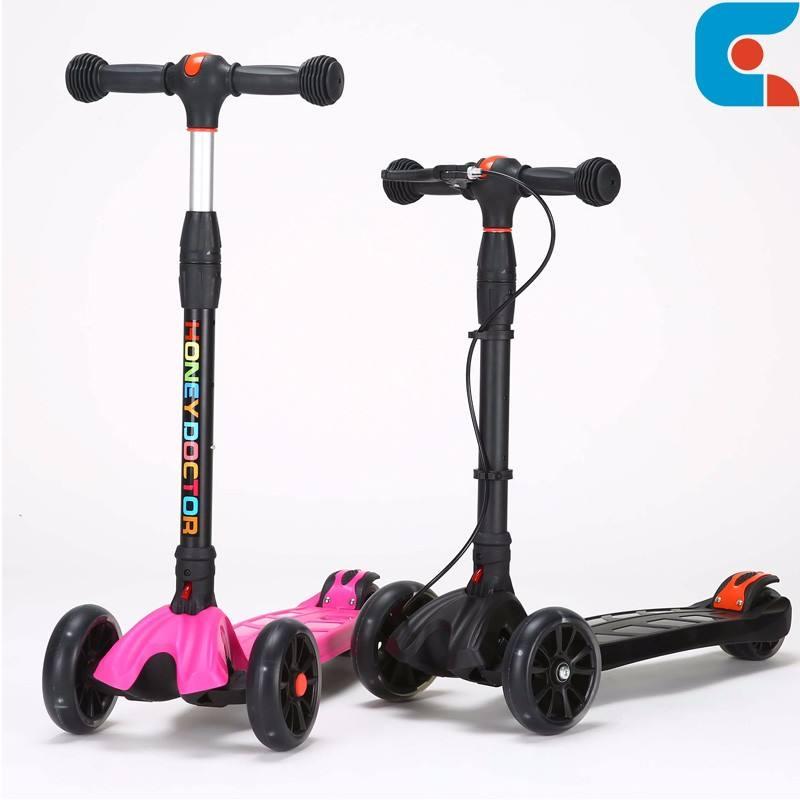 Plegable noria infantil 3 rueda niños kick scooter con freno <span class=keywords><strong>de</strong></span> mano
