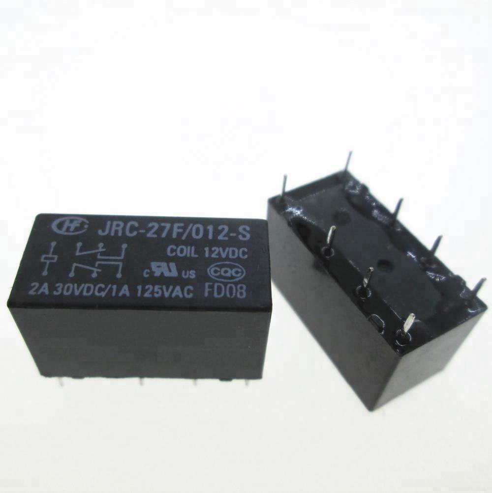 1A//125VAC HFD27//012-S Relay: electromagnetic Ucoil:12VDC 2A//30VDC DPDT