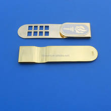 bulk products from china gold custom engraved logo paper clip money clip