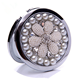 Pearl Bling Crystal Round Pocket Mirror Jeweled Compact Folding Mirror