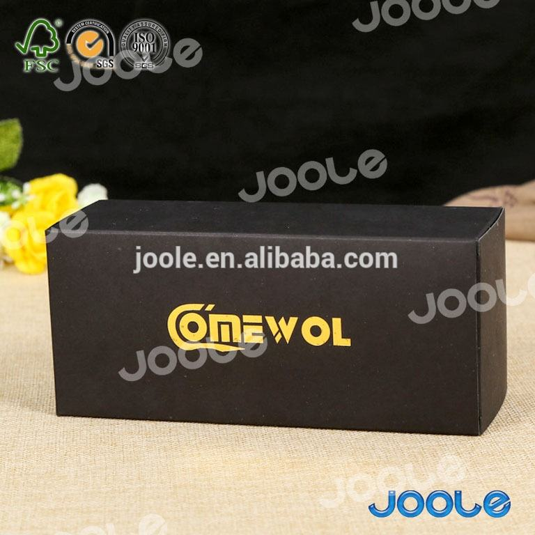 Custom black boxes silk lamination matter lamination logo gold stamping for hair extension packaging