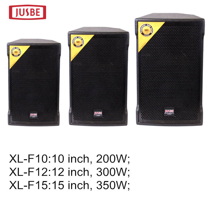 Jusbe professional audio video & lighting dj sound system XL-F15 monitor audio speaker