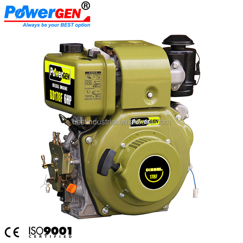 Hot Sale!!! POWERGEN 178F Air Cooled Single Cylinder Italy Type Diesel Engine 6HP