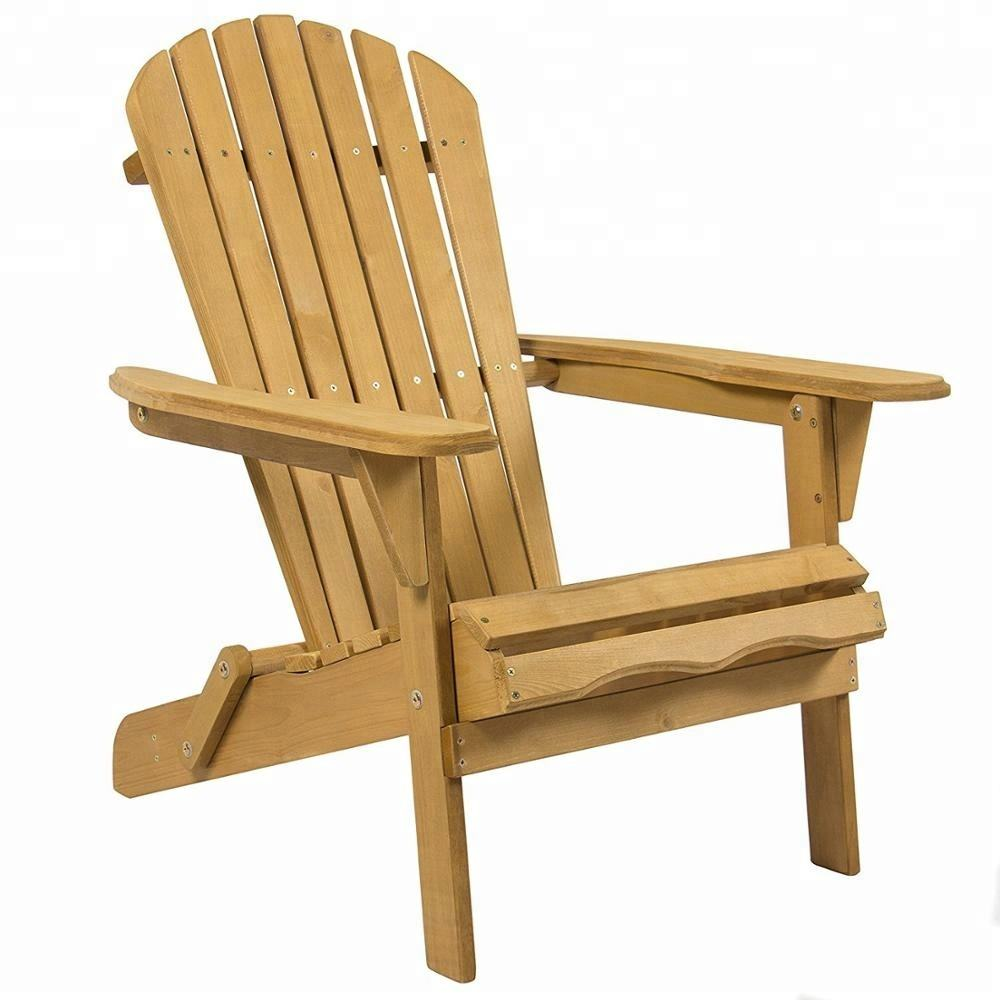 Wooden Adirondack chair for Patio Yard Deck and Foldable Adirondack Chair Kit