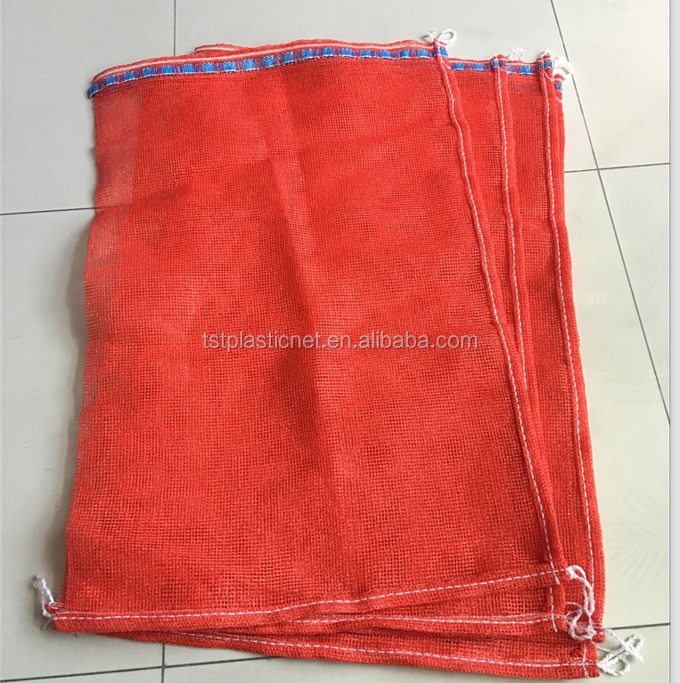 Different styles best-selling 50kg pp leno red onion mesh bag