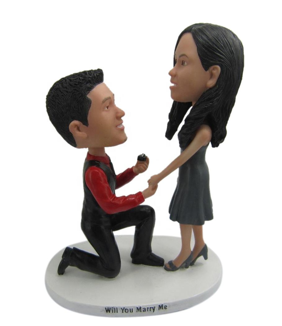 bobble head dolls custom maden resin figurines for personalized birthday present wedding gift