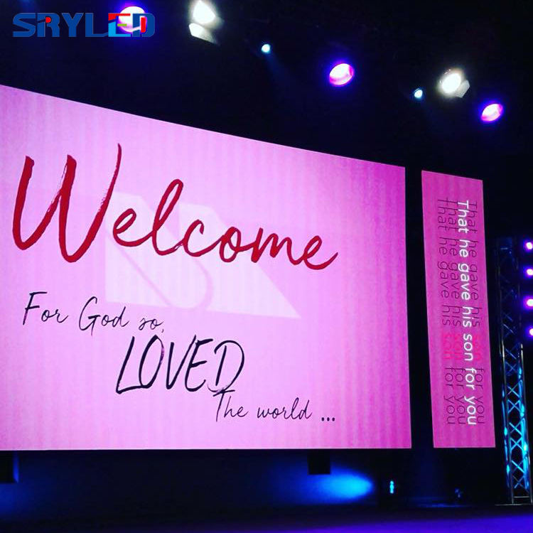 Stage Background Super Thin P4.81 Church LED Video Wall Panel Display Screen