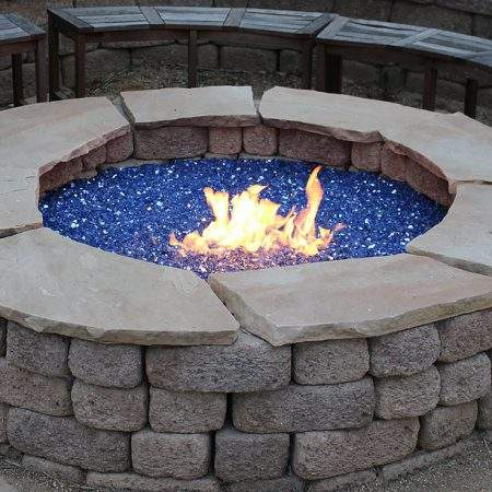 Cobalt Blue Crystal Fire Pit Glass outdoor glass fire pits