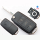 New Replacement Flip Remote Fob Car Key Shell for polo passat b5 B6 Tiguan Golf 4 5 Seat Skoda