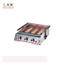 Gas bbq grill stainless steel grill barbecue stove outdoor adjustable height smokeless grill