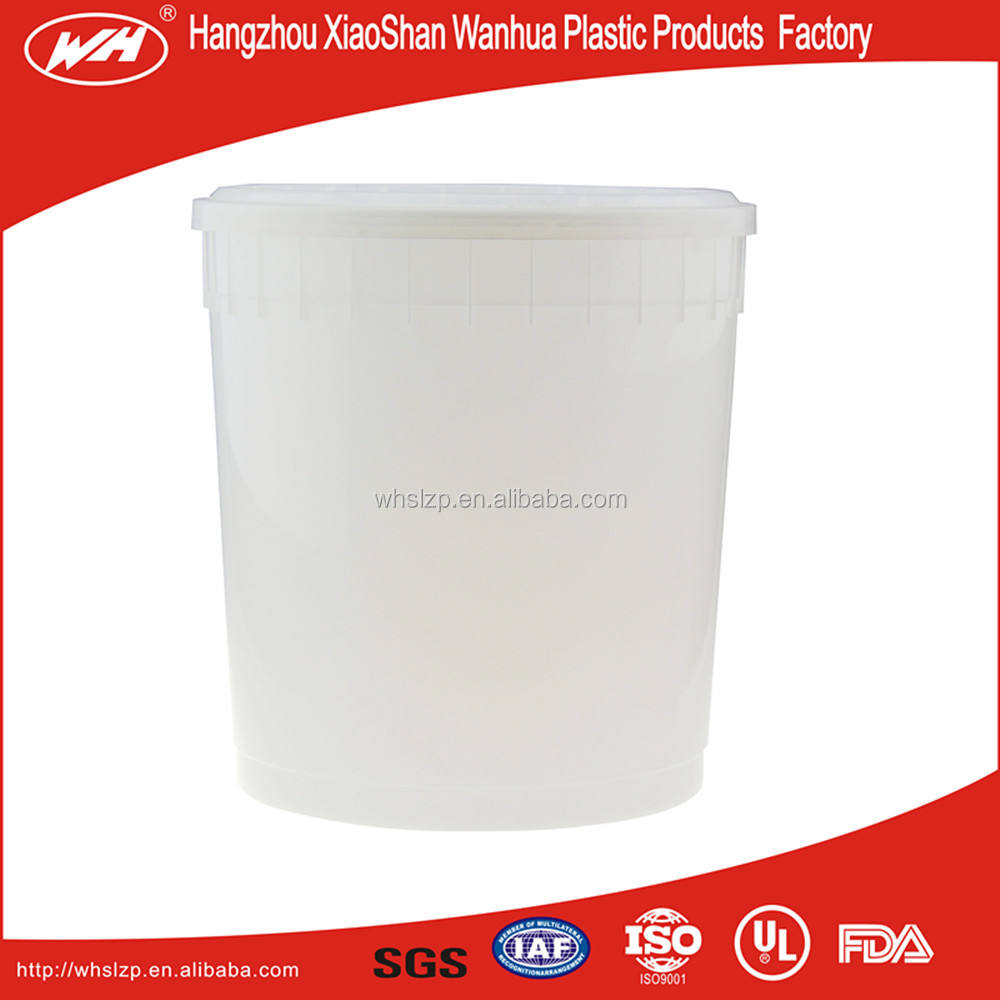 9.5L ice cream plastic bucket/salad pail packs buckets/food packaging buckets