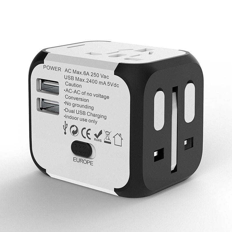 SL-176 universal converter 5 v 2A dual usb charger travel power adapter EU UNS UK aus muti stecker wand ac/dc adapter