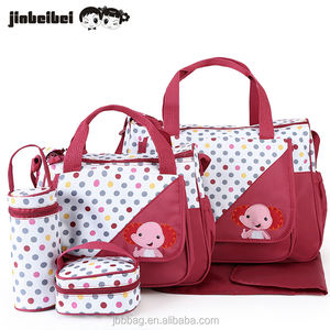 Hot sale new design multifunctional mommy diaper travel baby bag with baby changing pad