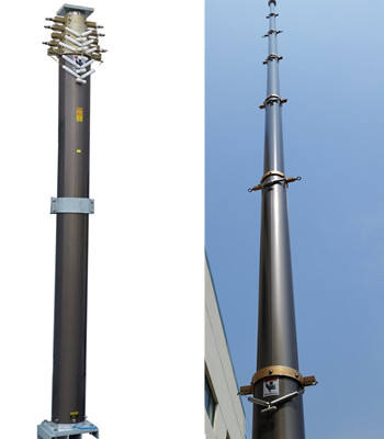 12m military portable telescopic communication tower