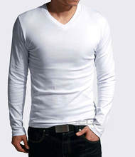 cheap china wholesale clothing tshirt vneck solid color tshirt men autumn clothing  shirts for men long sleeve