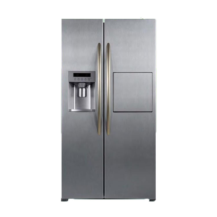 601L Home And Hotel Use Frost Free Two Sided Door Fridge Side By Side Refrigerator With Ice Maker