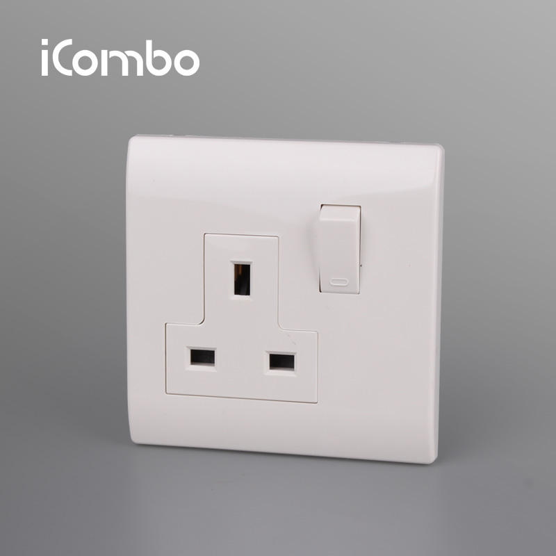 China Manufacture UK 13A mk switch socket with High Quality