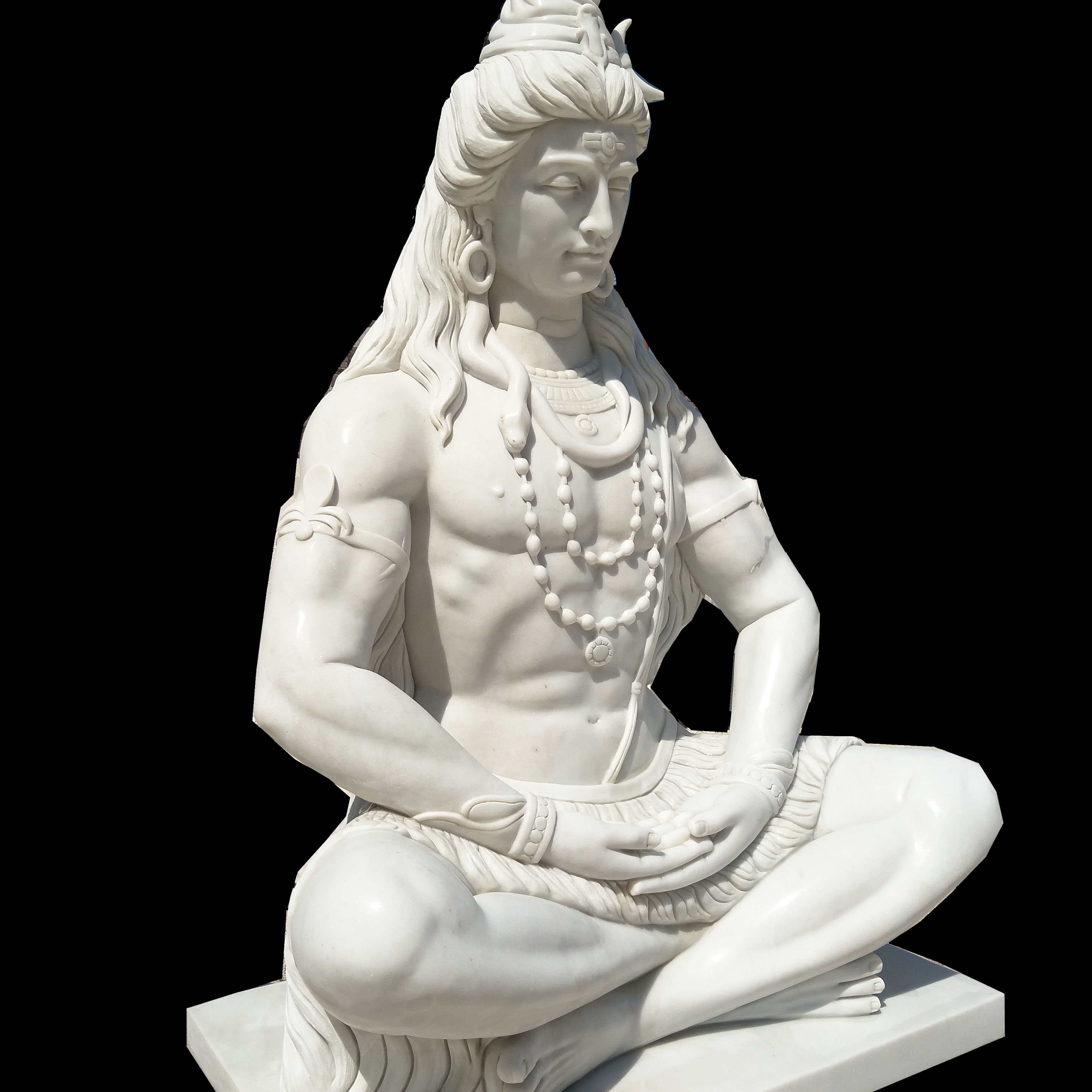 White Marble Indian God Statue Lord Shiva Statue