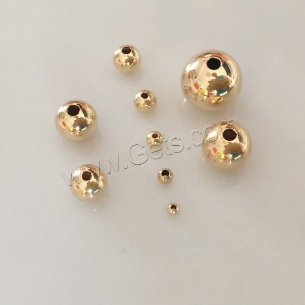 Wholesale different size round 14K gold filled beads