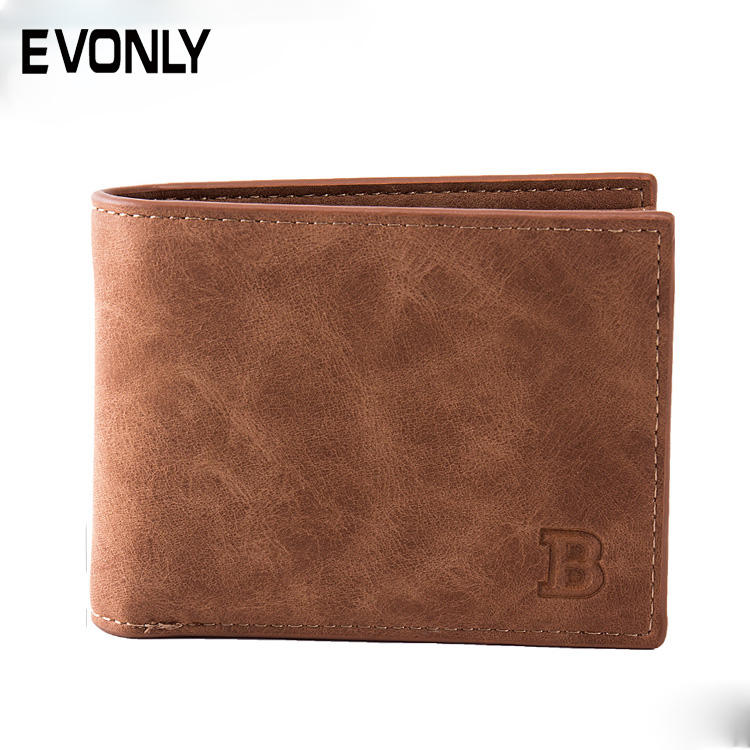 New arrival custom fashion classic men clutch leather wallet,good quality leather money and card wallet