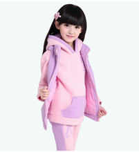 China factory supplie  wholesale cheap clothing suits kids hoodies