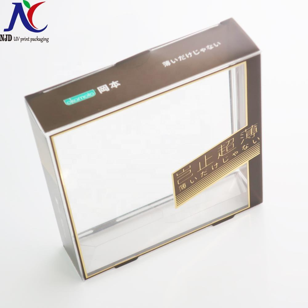 high-end clear plastic box packaging boxes for condom underwear