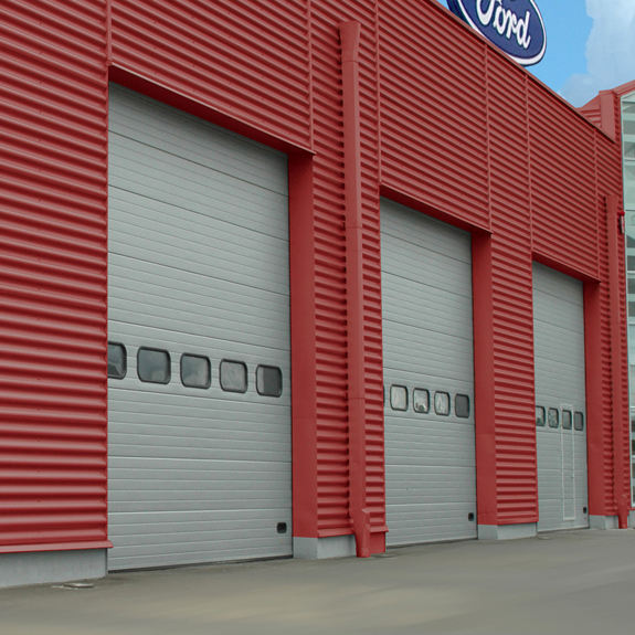 Electric Automatic Easy to operate Galvanized Steel Industrial lifting door