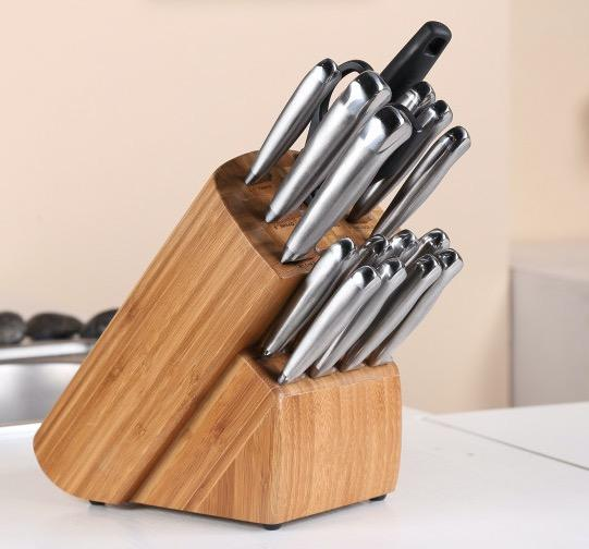 17PCS High quality stainless steel excellent houseware knife set