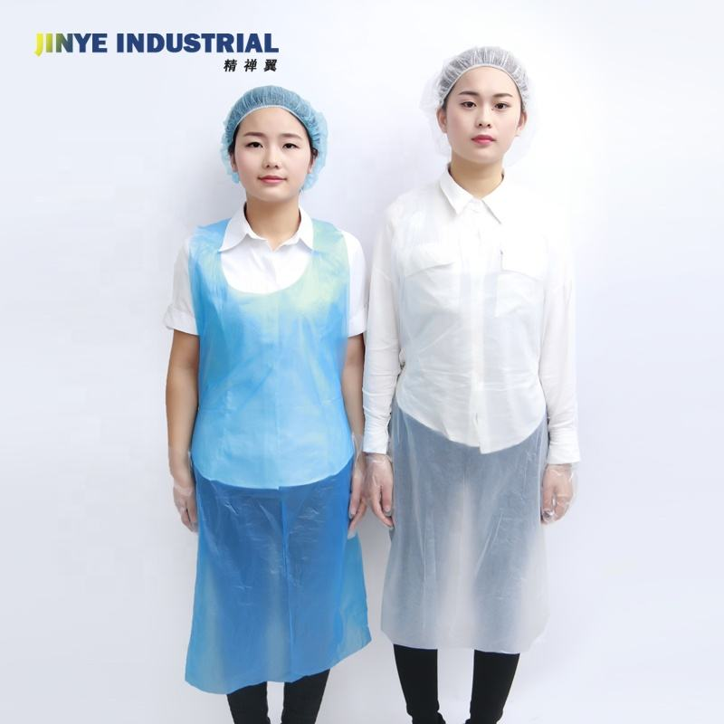 Factory Price Plastic PE/PP/LDPE Disposable Apron with different size