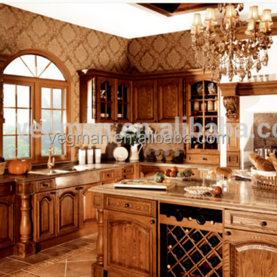 Ash solid wood kitchen cabinet doors use for luxury antique style kitchens