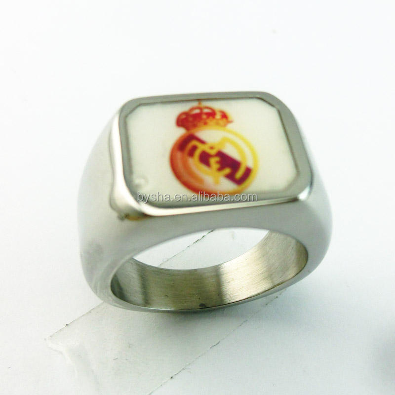 fashion jewelry custom made stainless enamel paint club ring