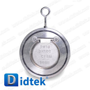 Didtek Stainless Steel Swing Type Single Plate Wafer Check Valve