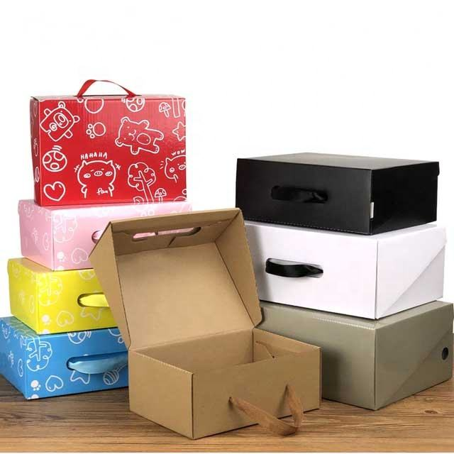 Custom Printed Carton men woman children Packaging Shipping shoes box