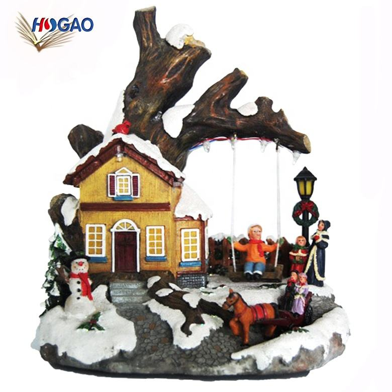 China factory direct sale wholesale home decor gifts imported ornaments promotional Christmas led lighted houses
