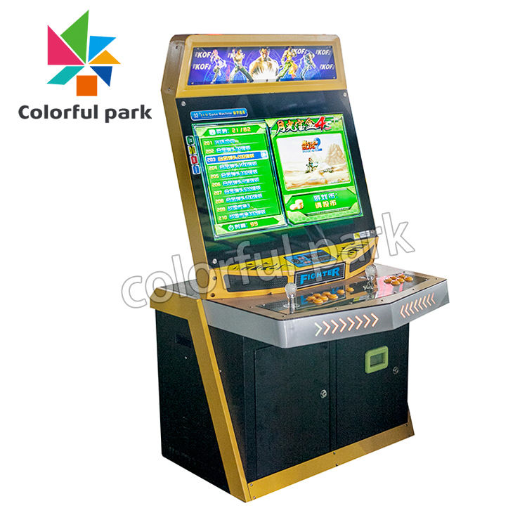 Colorful Park Arcade Video Street Fighting Coin Push Game Machine