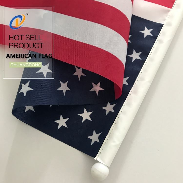 High Quality China Factory 3x5 cheap custom american flag countries flag pole set