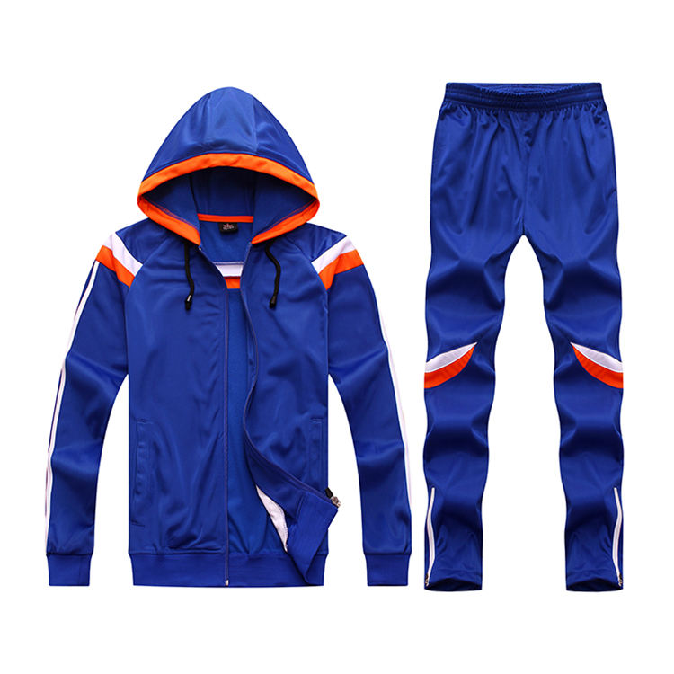 OEM cotton polyester sportswear tracksuit wholesale custom tracksuit for mens