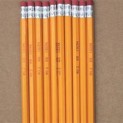 cheap wholesale yellow wooden pencil with eraser
