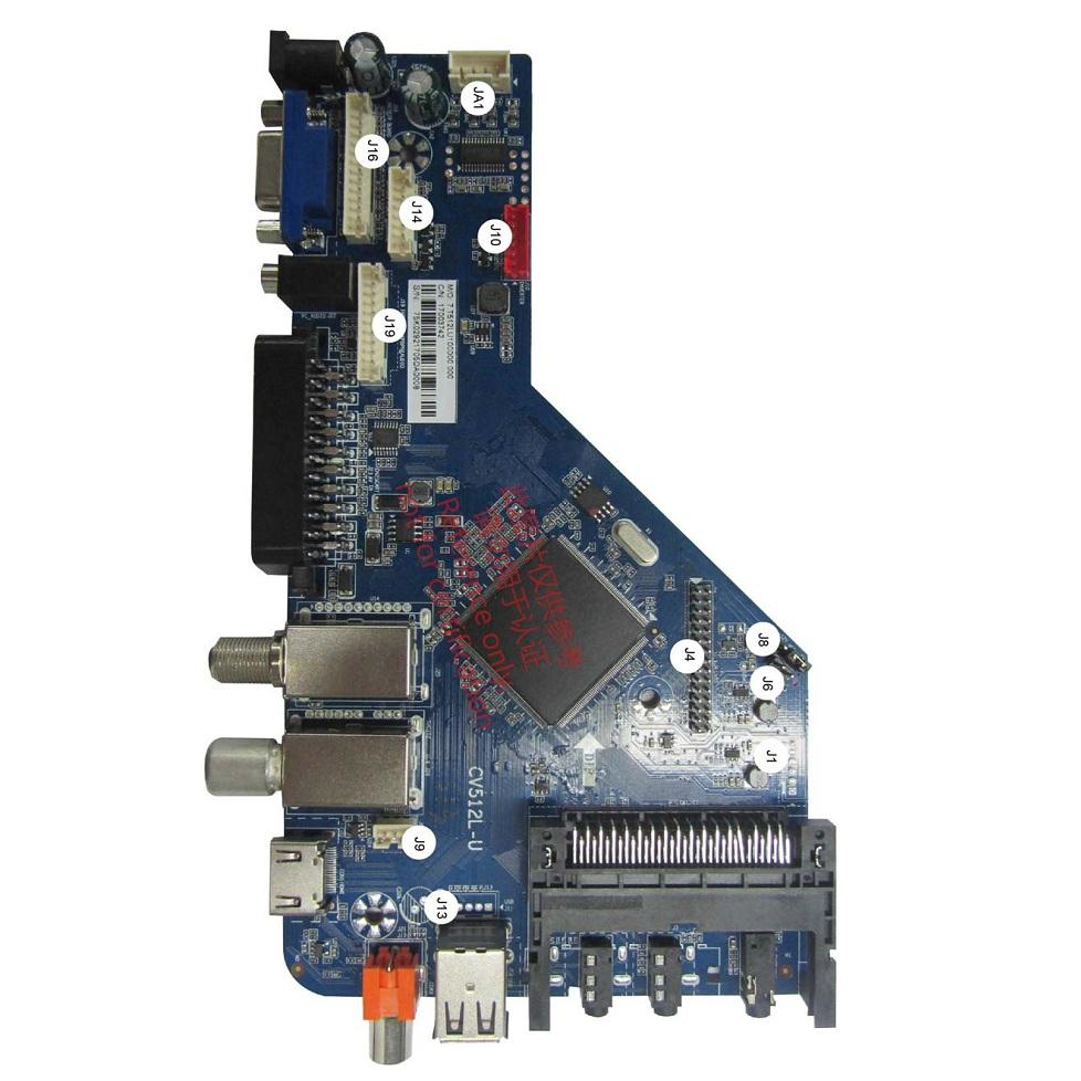 DVB-S2 DVB-T2 DVB-C DVB-T SCART CI+Authorization Digital LCD TV Main Board with STB Decoding