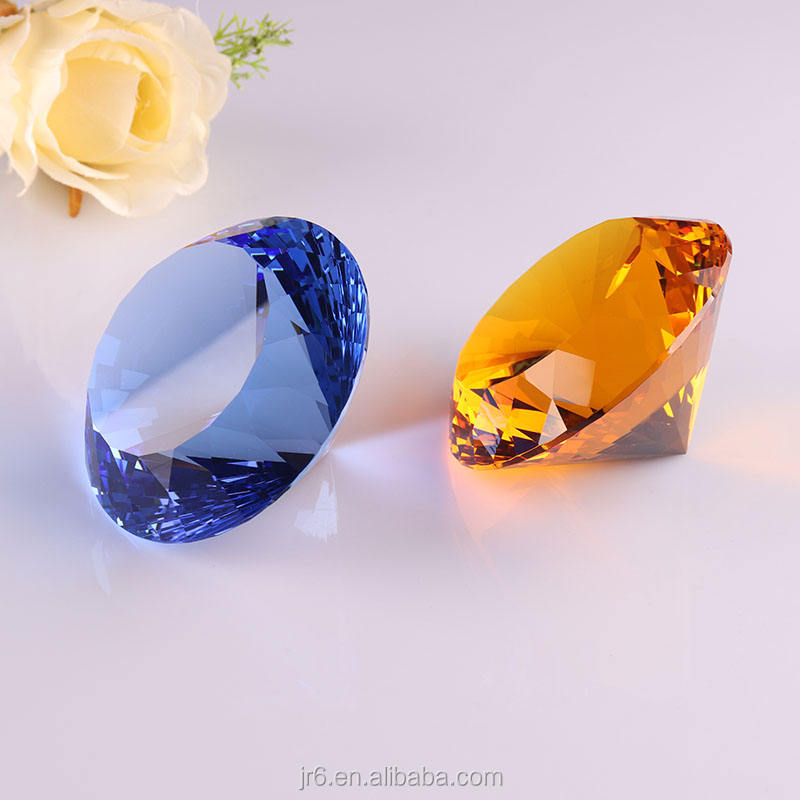 wholesale k9 crystal diamond decorative glass gems large crystal paper weight diamond for home decor