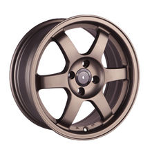 Bronze color 14 15 16 17 inch 4*100 5*114.3 jwl via quality aftermarket alloy aluminum car wheels rim with cheap price