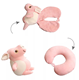 Convertible Soft Plush Animal Travel Neck Massage Pillow Cute Kids Memory Foam Animal 2 in 1U Pillow